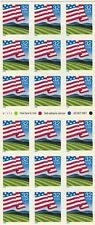 Scott # 2919 Flag Over Field Pane of 18 Stamps
