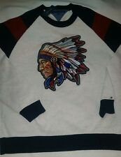 Tommy Hilfiger Custom American Aztec Indian Chief Head Knitted Crewneck Sweater
