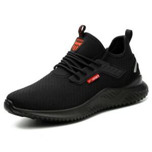 MENS WOMENS ULTRA LIGHTWEIGHT STEEL TOE CAP SAFETY SHOES TRAINERS