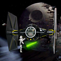 Star Wars Battle Damage Tie Fighter Imperial Troop Transport Inspired Starship