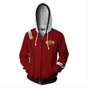 Star Trek II: The Wrath of Khan Cosplay Hoodie Sweatshirt Zip Up Jacket Coat
