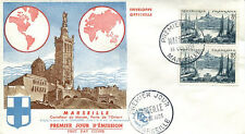 FRANCE FDC - 134 1037 2 MARSEILLE - 15 10 1955