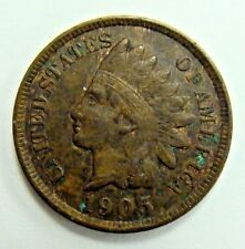1905 XF INDIAN CENT, NICE FULL LIBERTY TYPE COIN, FREE SHIPPING IN USA