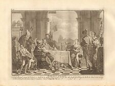1770  ANTIQUE PRINT -BIBLE- SAML 25.36, NABAL'S FEAST-AND ABIGAIL CAME TO NABAL