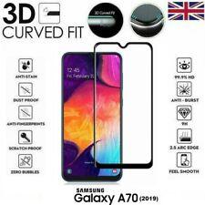 Per Samsung Galaxy A70 (2019) 3D Vetro Temperato Protezione Schermo LCD Nero