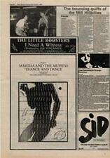 Martha And The Muffins Trance And Dance Advert NME Cutting 1980