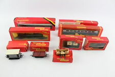 9 x Vintage Boxed TRI-ANG / HORNBY Carriages & Rolling Stock Inc. R128 OO Gauge