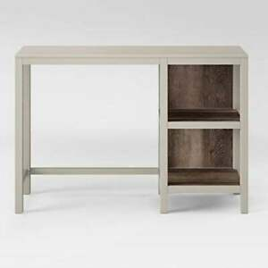 Hadley Wood Writing Desk with Storage Shell - Threshold - Slate Gray