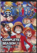 One Piece Episodes 1-64 in English / Japanese Complete Season 1 on 6 DVD set