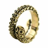 Kraken Ring Edelstahl Damen Herren Tentakel Maritim Vintage Oktopus Gold Ring