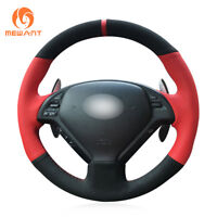 Black Suede Steering Wheel Cover for Infiniti G G25 G35 G37 QX50 EX EX35 EX37