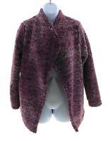 Knapp Studio Womens Purple Faux Fur Jacket Winter Casual Size Medium