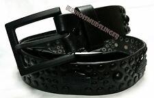 Men's Harley Davidson Studded Blackout Bar & Shield Leather Belt Size 40 #10031