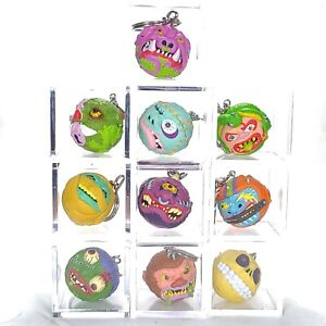 Lot of 10 Madballs Key Chains in Protective Cases - No Duplicates #1