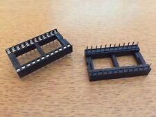 IC zócalo 24 vías/Pines Pitch 0.3 Agujero Pasante 2.54 20 piezas HU29