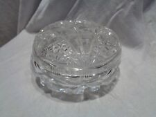 Vintage Cut Crystal Star of David 5 Point Star Powder Jar Candy Dish