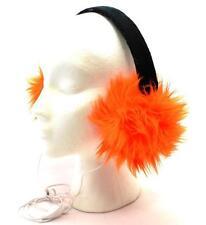 Winter SO Women Men Bright Orange Faux Fur Fuzzy Funky EarWarmer Headphones 3635