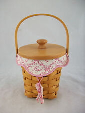 Longaberger 2002 Horizon of Hope Basket Combo w Lid & Tie On