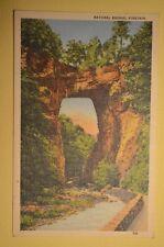 NATURAL BRIDGE VIRGINIA 1941  POSTCARD *FREE SHIPPING**