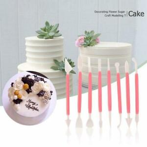 8 pcs Pattern Fondant Cake Decorating Tool Set Flower Modelling Icing Sugarcraft
