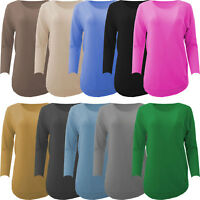 Womens Italian Angora Wool Mix Round Ribbed Hem Soft Knitted Ladies Jumper Top