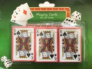 PLASTIC COATED PLAYING CARDS - 3 PACKS