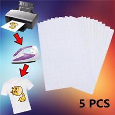 Heat Transfer Paper Light T-Shirt Inkjet-Printer Iron On Heat Press Sheet Set RU