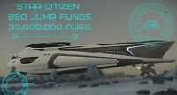 Star Citizen 890 Jump aUEC  33,000,000 Funds Ver 3.12.1 Alpha UEC