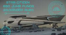 Star Citizen 890 Jump aUEC 33,000,000 Funds Ver 3.13.0 Alpha UEC