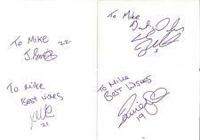 Football Autographs Jack Smith Daniel Smith Jay Smith Karl Broadhurst Z3469