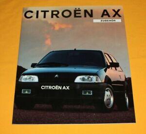 Citroen AX 1991 Zubehör Prospekt Brochure Depliant Catalog Prospetto Prospecto