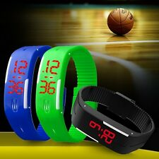 Fashion Boys Girls Kid Silicone Rubber Band Led Digital Sport Quartz Wrist Watch