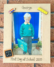 1st Day at School Photo Frame Gift Present First Day at Nursery, Kindergarten