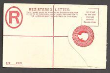 GIBRALTAR QV 2d red registered postal stationery envelope - 2567
