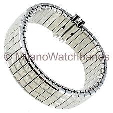 16-21mm Speidel Silver Tone Twist-O-Flex Stainless Steel Mens Watch Band 1611/02