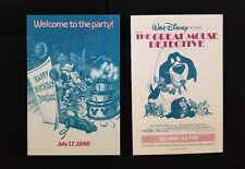 Disney Ephemera DLR July 17, 1986 Happy Birthday Disneyland Park Showtime Guide