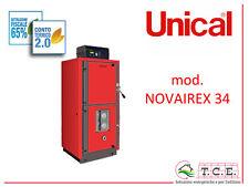 Caldaia a legna fiamma rovescia UNICAL mod NOVAIREX 34 potenza 30,6 kW - stove