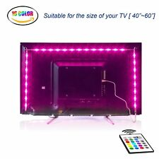 "LED TV Backlight 2M USB Bias Lighting 16 colours 4 mode Remote for 40"" To 60"" TV"