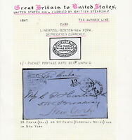 1867 Transatlantic Stampless Letter Express FAC Depreciated Currency US Notes
