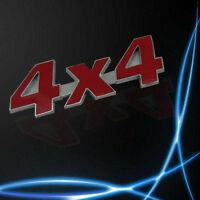 Red Car Metal 3D 4X4 Displacement Emblem Badge Truck Auto Motor Sticker Decal