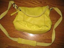 Sak Yellow Pebbled Leather Purse Deena Crossbody Shoulder Bag Handbag PERFECT