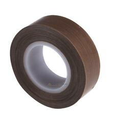 Brown PTFE Coated Fiberglass Fabric With Silicone Adhesive Tape 19mmx10M Round