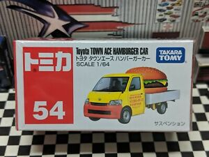 TOMICA #54 TOYOTA TOWN ACE HAMBURGER CAR 1/64 SCALE