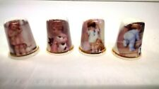 Collection Bone China Thimbles Birchcroft China - Old Fashioned Little Girls x 4