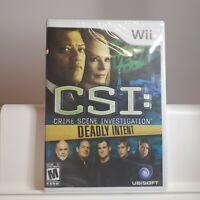 CSI: Crime Scene Investigation Hard Eviden Nintendo Wii Authentic/Cleaned/Tested