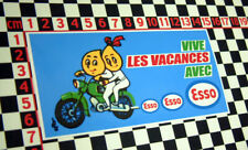 1960's French Oil Petrol Motorcycle Sticker Vive Les Vacances