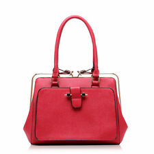 Ladies Designer Gold Metal Frame Fashion Celebrity Tote Bags Shoulder Handbags