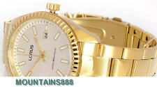 RH994DX-9, LORUS Watch, Date, Stainless Steel, WR50, Gold Tone, Mens