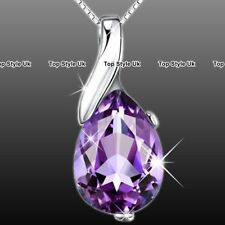 Birthday Presents for Her Amethyst Necklace Women Girlfriend Wife Mum Niece J371