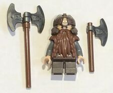 NEW LEGO Gimli Minifigure Dwarf Axe Beard Helmet LOTR Castle Minifig Lot 31